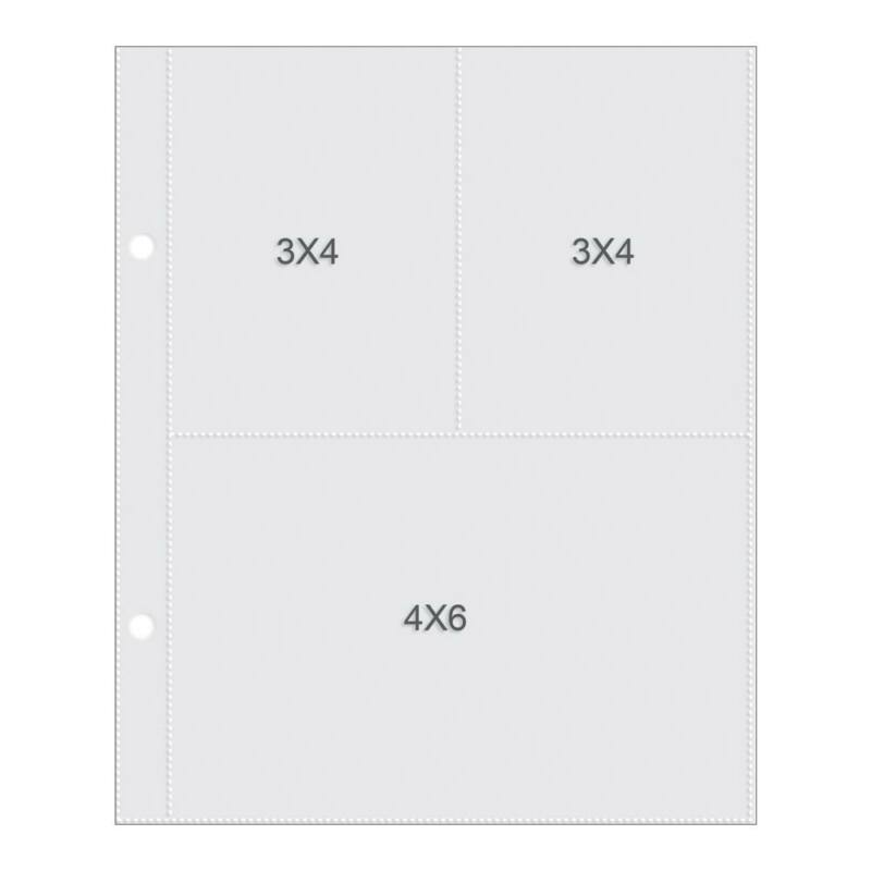 Simple Stories - SNAP 6 x 8 Pocket Pages - 4 x 6 and 3 x 4