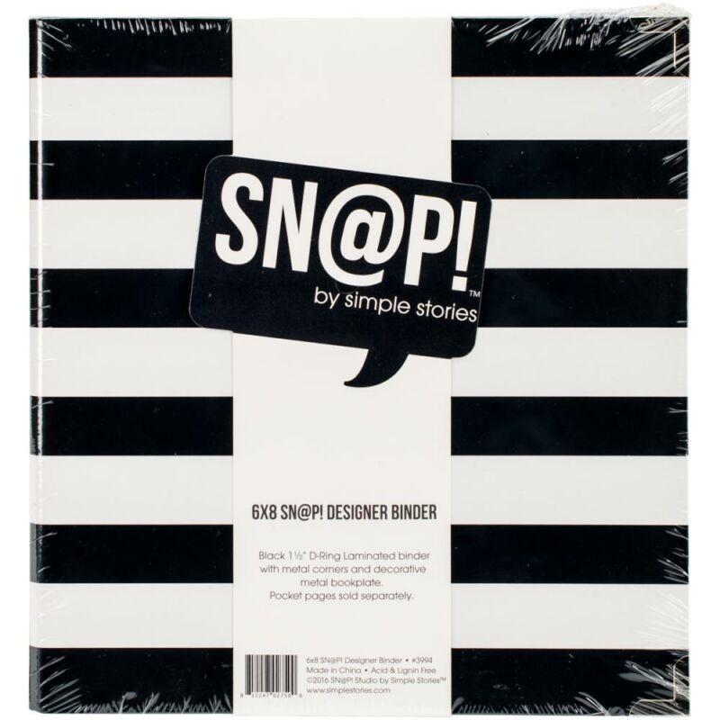 Simple Stories - SNAP 6 x 8 Designer Binder - Black