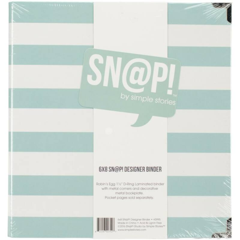 Simple Stories - SNAP 6 x 8 Designer Binder - Robin's Egg