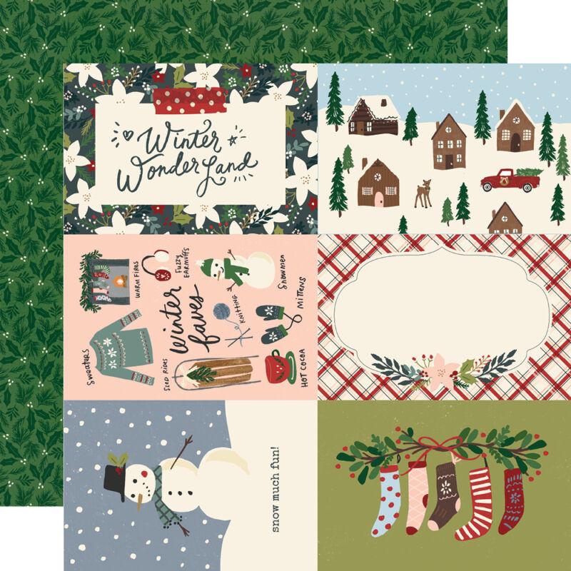 Simple Stories - Winter Cottage 12x12 papír - 4x6 Elements