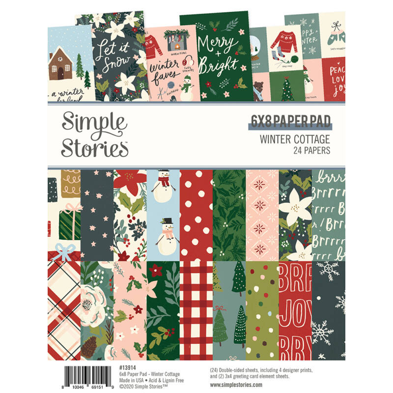 Simple Stories - Winter Cottage 6x8 Paper Pad (24 Double-Sided Sheets)