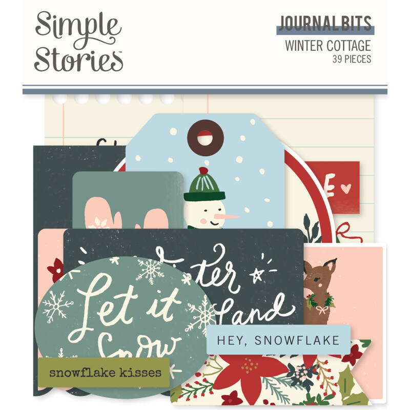 Simple Stories - Winter Cottage Journal Bits Die Cut (39 pieces)