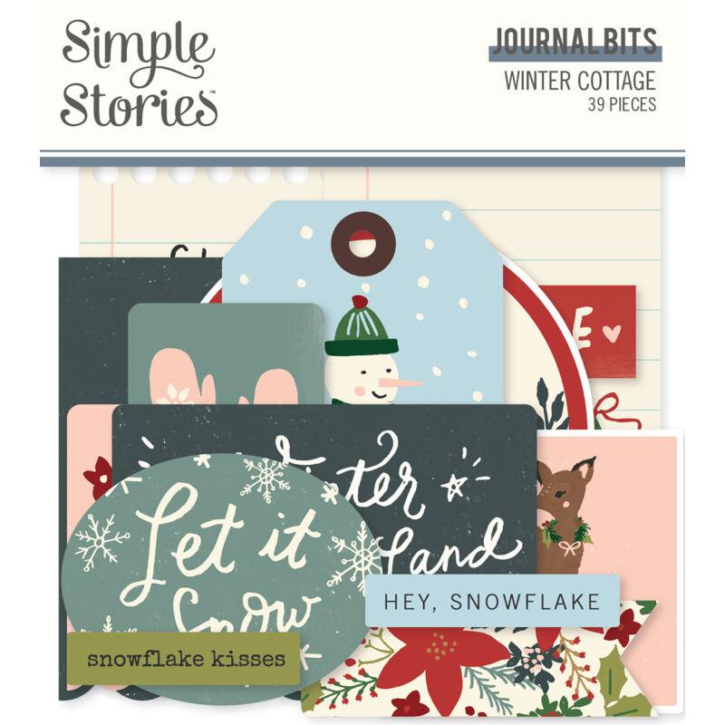 Simple Stories - Winter Cottage Journal Bits Die Cut (39 pieces)