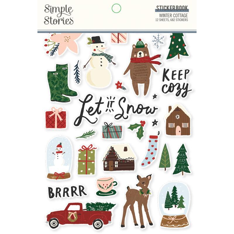 Simple Stories - Winter Cottage Sticker Book (682 pieces)
