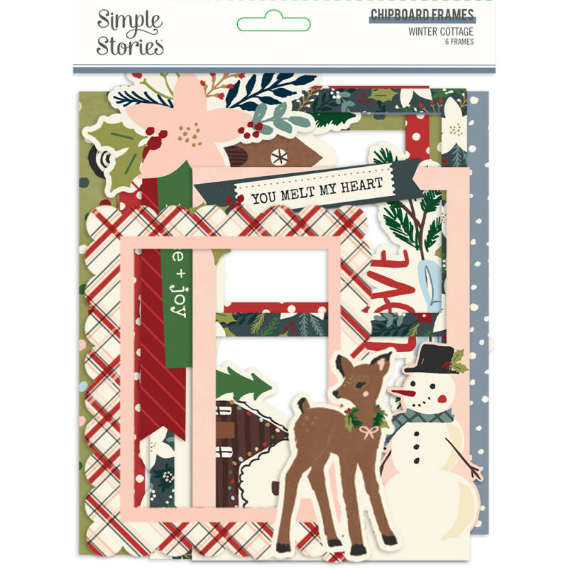 Simple Stories - Winter Cottage Chipboard Frames (6 pieces)
