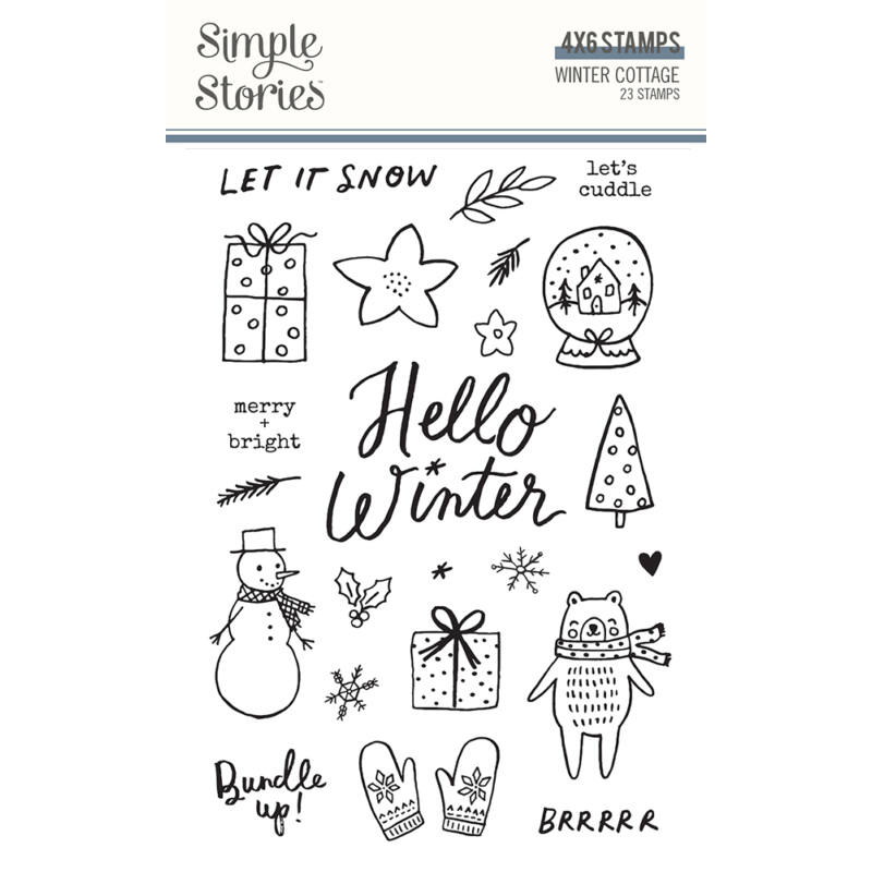 Simple Stories - Winter Cottage Stamps