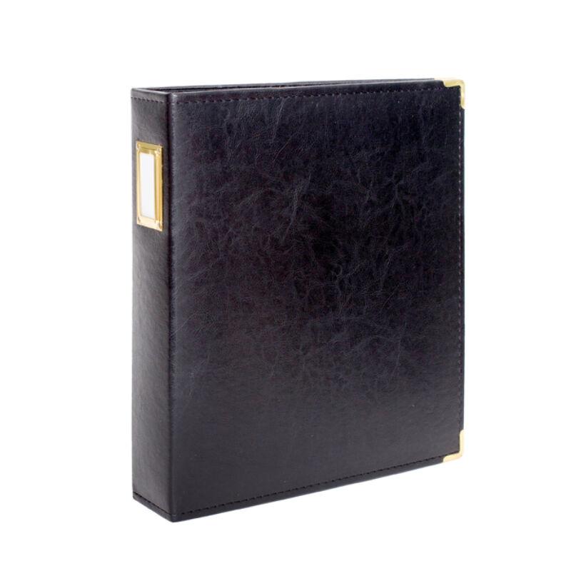 Studio Calico 7Paper Handbooks 9 x 12 Faux LeatherAlbum - Black