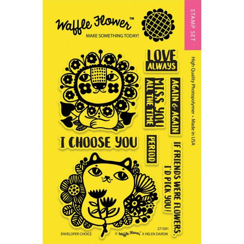 Waffle Flower Clear Stamp - Enveloper Choice