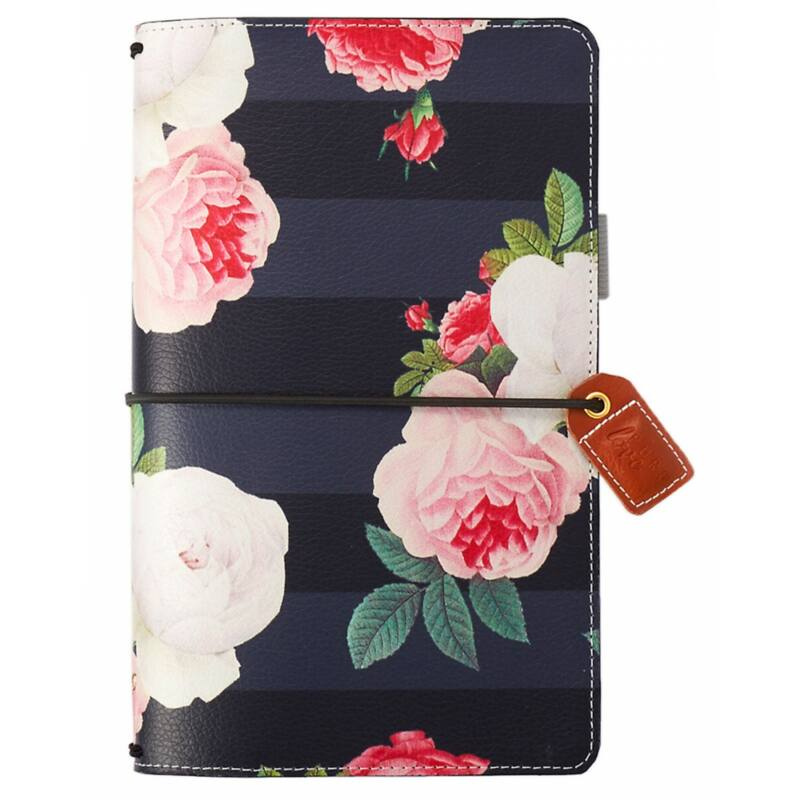 Webster's Pages Color Crush Traveler's Notebook Planner - Black Floral