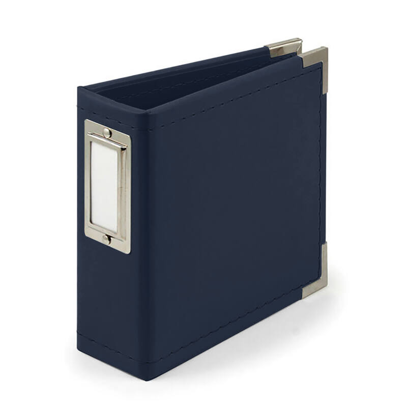We R Memory Keepers - 4x4 Classic Leather Album - Navy