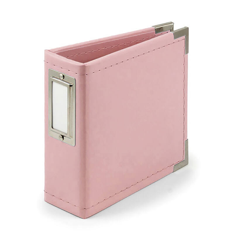 We R Memory Keepers - 4x4 bőr album - Pretty Pink
