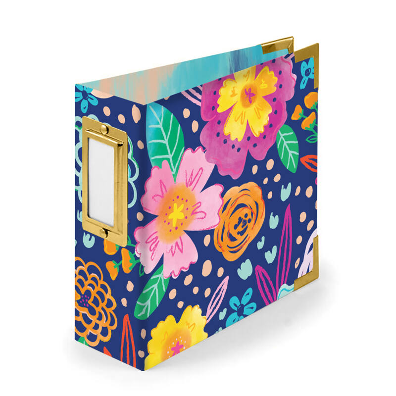 We R Memory Keepers - Paige Evans - 4x4 Paper Album - Floral