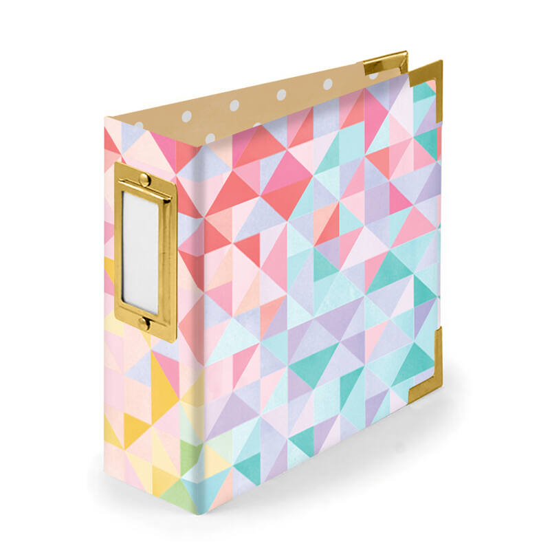 We R Memory Keepers - Paige Evans - 4x4 Paper Album  - Geometric