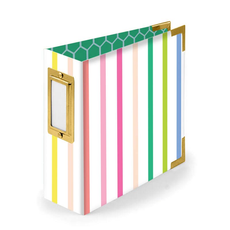 We R Memory Keepers - Paige Evans - 4x4 Paper Album  - Striped