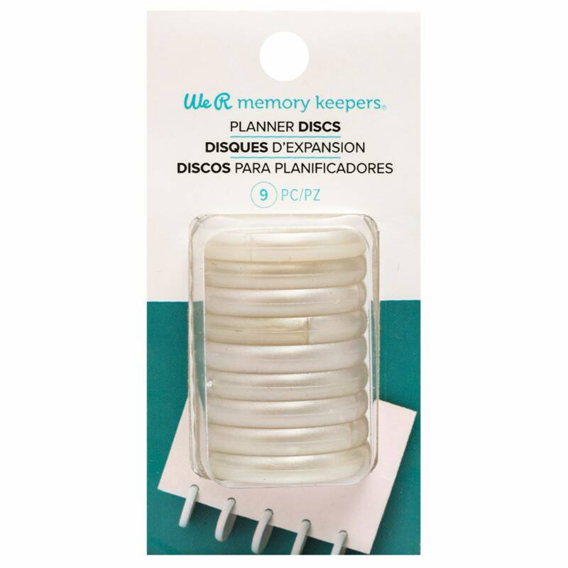 We R Memory Keepers - Planner Discs -Pearl (9 Pieces)