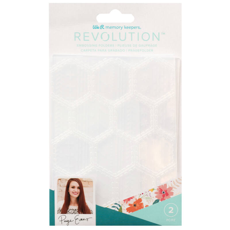 We R Memory Keepers - Embossing Folder Paige Evans (2 Pieces)
