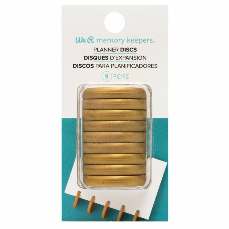 We R Memory Keepers - Planner Discs -Gold (9 db)
