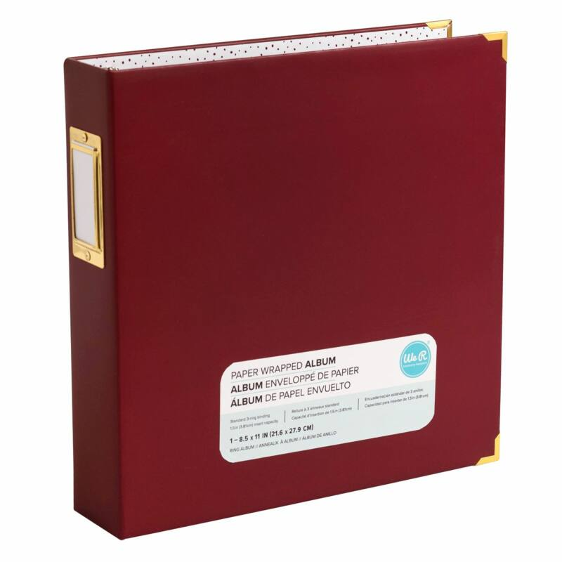 We R Memory Keepers 8.5x11 Paper Wrapped Album - Maroon