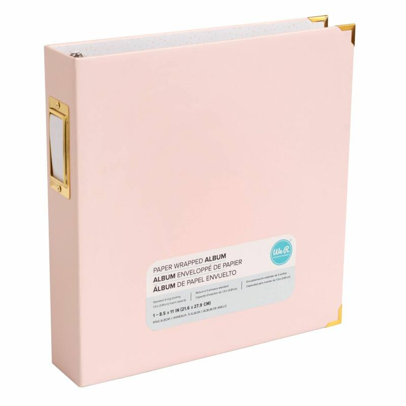 We R Memory Keepers 8.5x11 Paper Wrapped Album - Pink