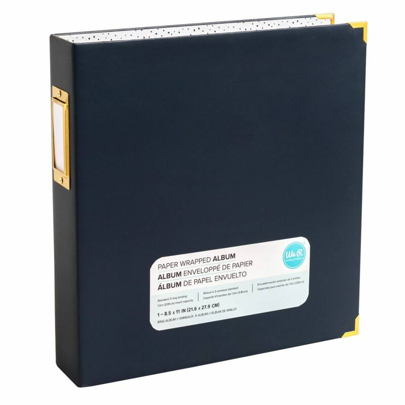 We R Memory Keepers 8.5x11 Paper Wrapped Album - Navy