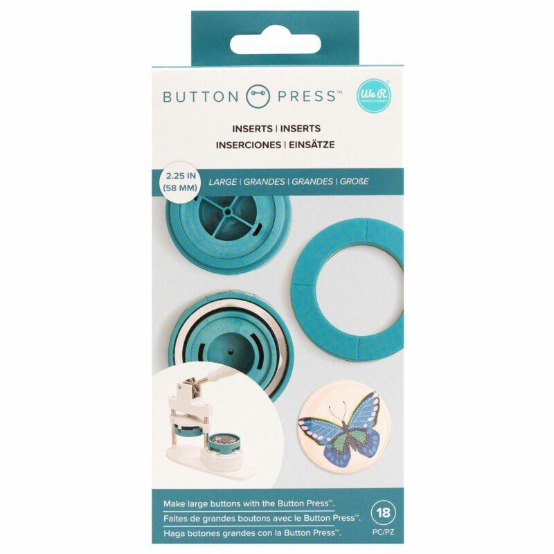 We R Memory Keepers - Button Press nagy présbetét és vágókés (8 db)