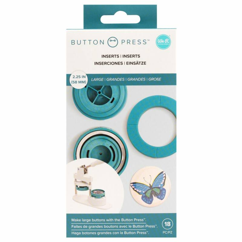 We R Memory Keepers - Button Press Large Insert (8 Piece)