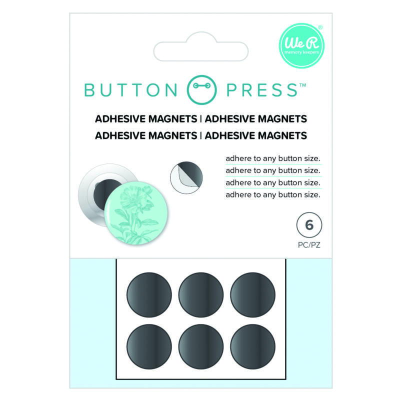 We R Memory Keepers - Button Press Adhesive Magnets (6 Piece)