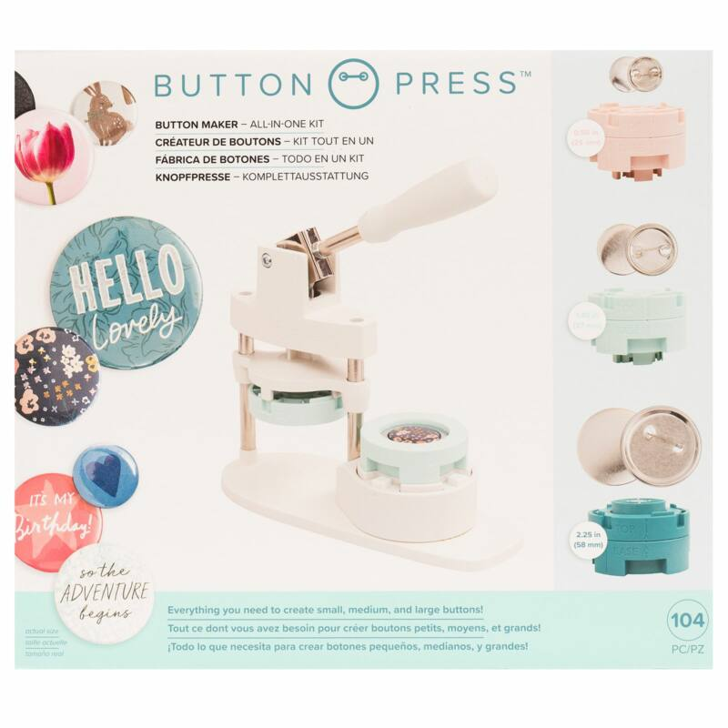 We R Memory Keepers - Button Press All-In-One készlet (104 db)