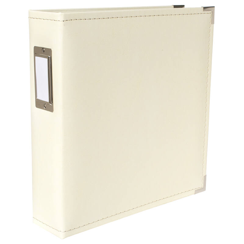 We R Memory Keepers 8.5x11 Classic Leather Album - Cream