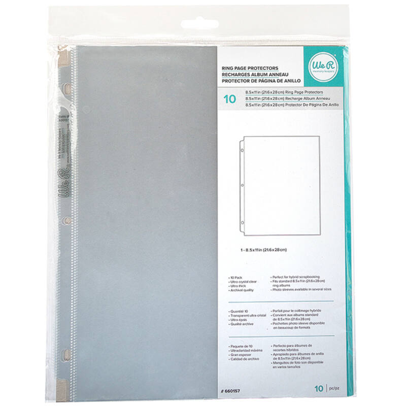 We R Memory Keepers - 8.5x11 Page Protector (10 pieces)