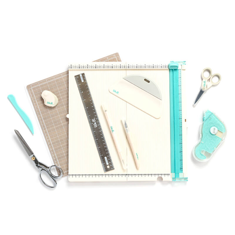 7 Piece Kit American Crafts We R Memory Keepers Basic Tools Hand Tool Kit
