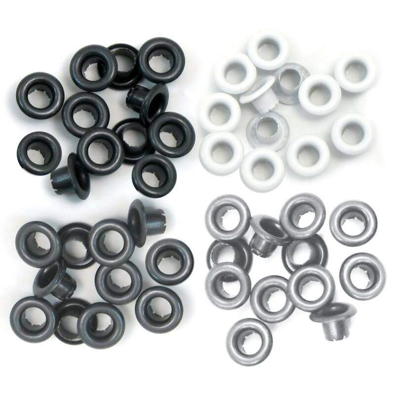 We R Memory Keepers Standard Eyelets - Grey
