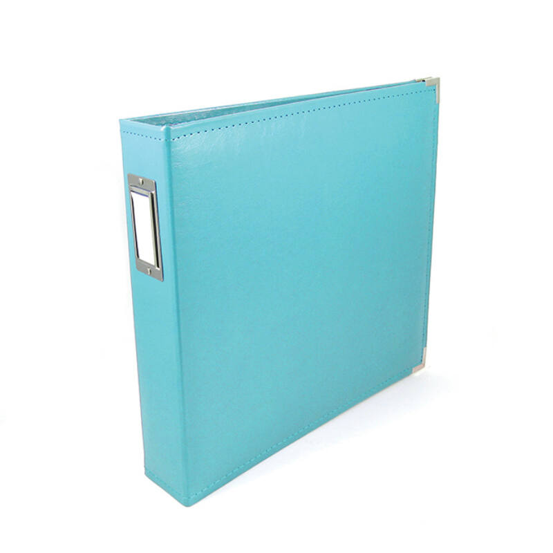 We R Memory Keepers 12x12 Classic Leather Album - Aqua