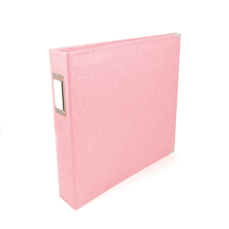 We R Memory Keepers 12x12 Classic Leather Album - Pretty Pink