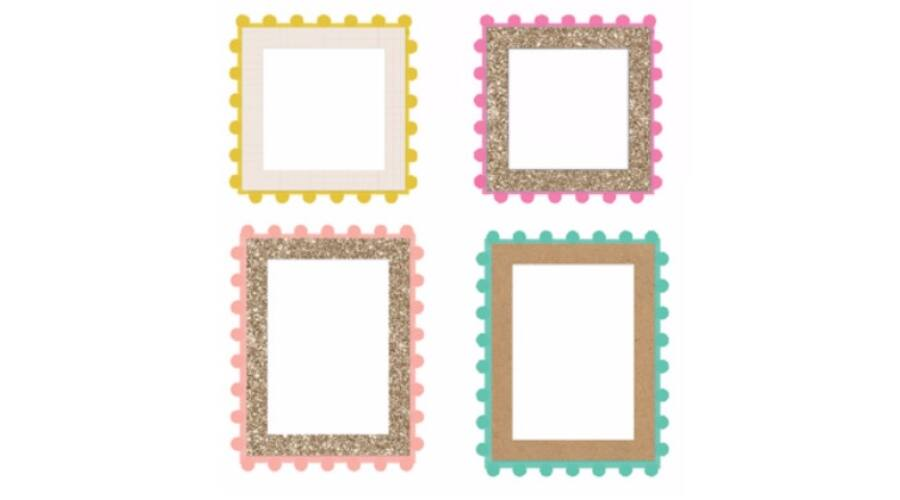Ephemera   Crate Paper - Good Vibes Pom Pom Frames - Pink and Paper ...